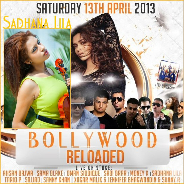 Publicatie Sadhana Lila '2FAMOUSCRW live in club Eclipse, Bollywood Reloaded'flyer