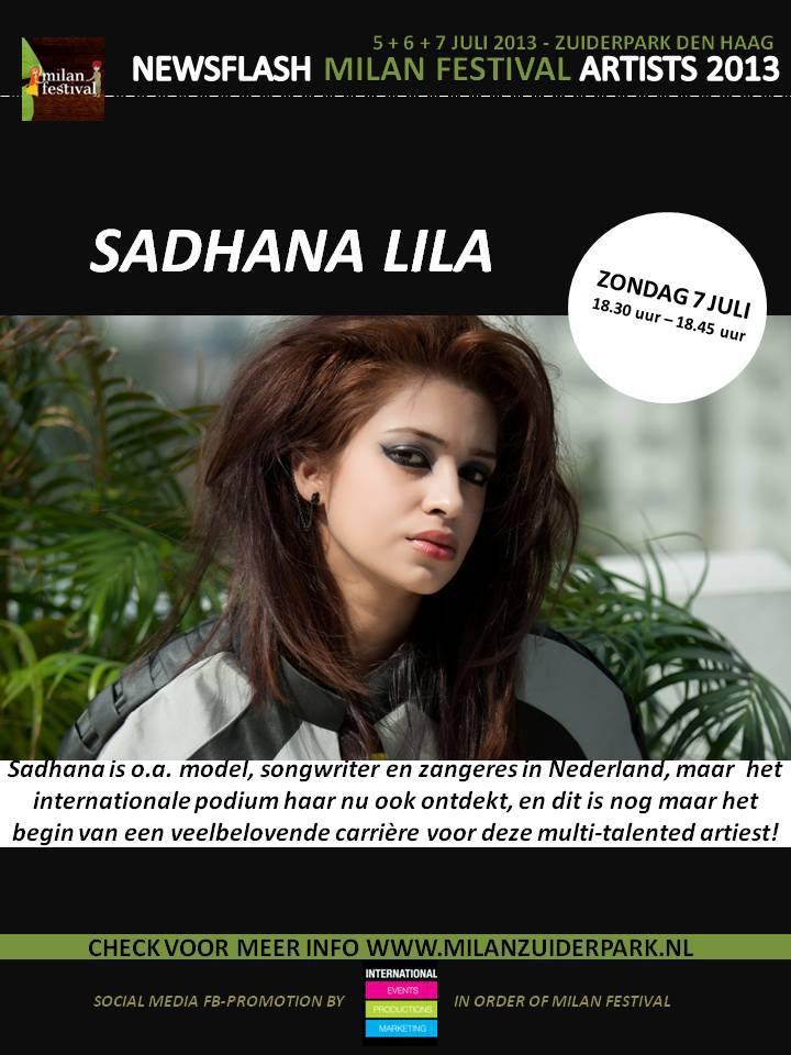 Publicatie Sadhana Lila 'Milan Festival 2013'flyer