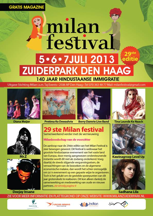 Publicatie Sadhana Lila op cover 'Milan FestivalMagazine'