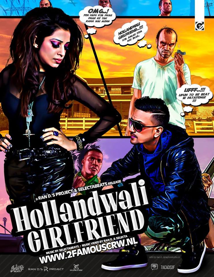 Publicatie Sadhana Lila '2FAMOUSCRW Hollandwali Girlfriend' poster