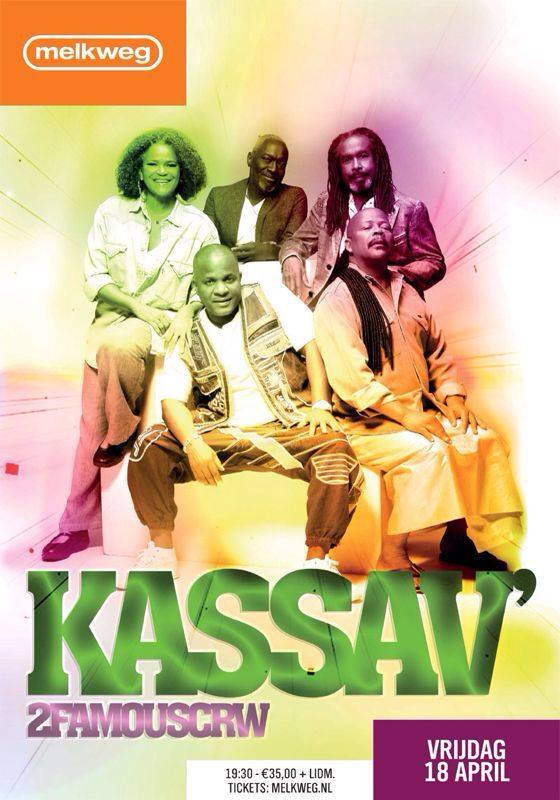 Publicatie Sadhana Lila '2FAMOUSCRW live in Melkweg the Max, Kassav Live'flyer