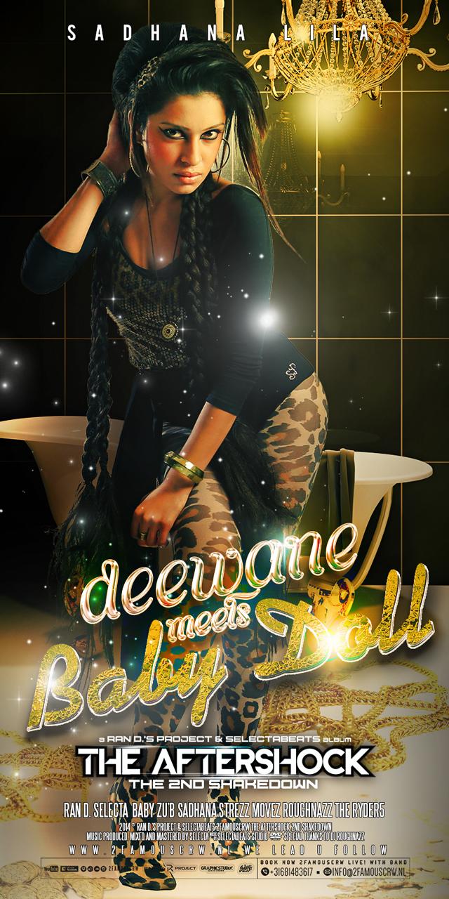 Publicatie Sadhana Lila '2FAMOUSCRW Deewane meets Babydoll'poster