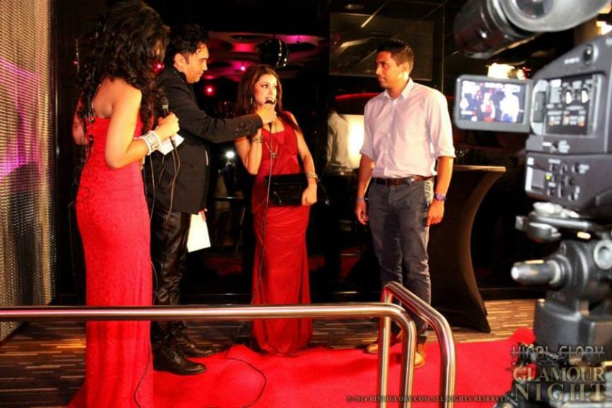 Red carpet event shoot Sadhana Lila voor Hindi Glory in Holland Casino, Rotterdam