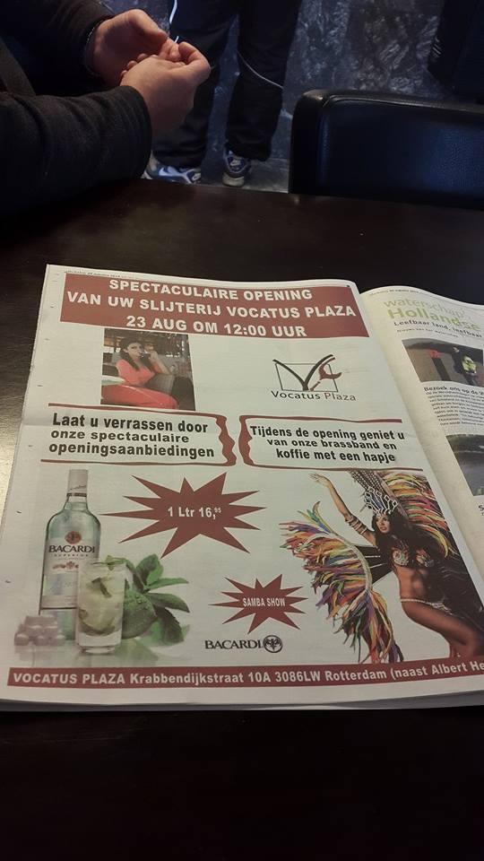 Publicatie Sadhana Lila 'Opening Vocatus Plaza' in krant 'Rotterdam ZuidDichtbij'