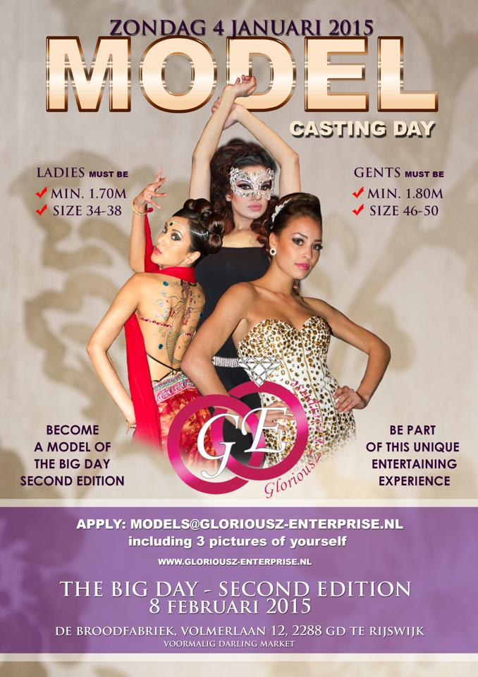 Publicatie Sadhana Lila 'The Big Day 2, Casting Day' flyer