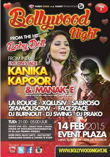 Publicatie Sadhana Lila '2FAMOUSCRW live in Event Plaza, Bollywood Night' flyer