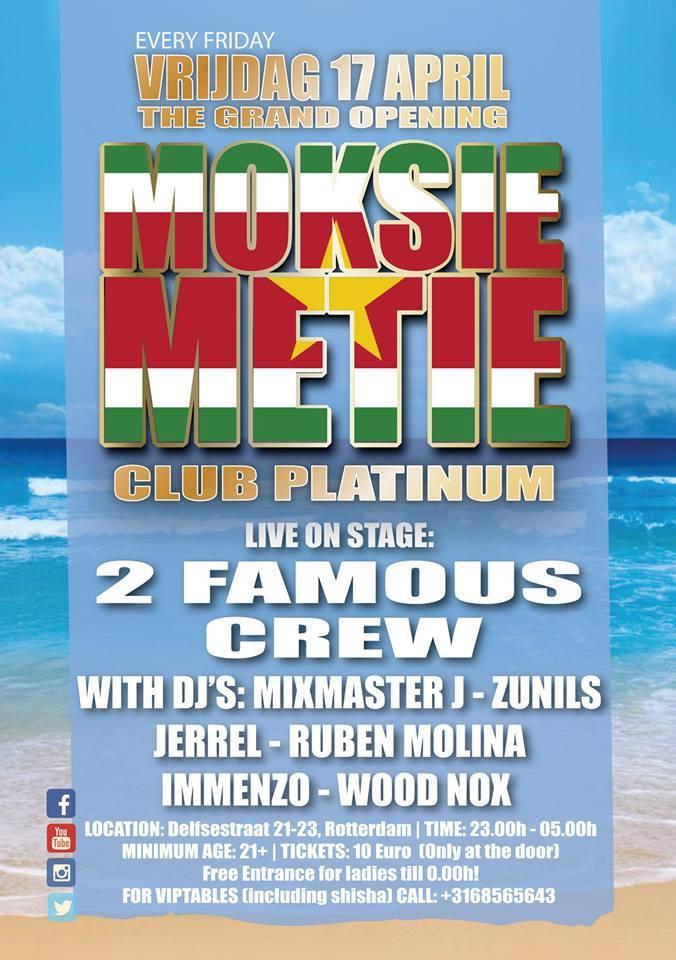 Publicatie Sadhana Lila '2FAMOUSCRW live in club Mykech, Moksi Metie Festival'flyer