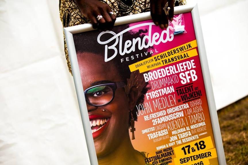 PUBLICATIE SADHANA LILA '2FAMOUSCRW LIVE IN WIJKPARK TRANSVAAL, BLENDED FESTIVAL'FLYER